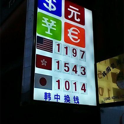 街中にあるたくさんの両替所