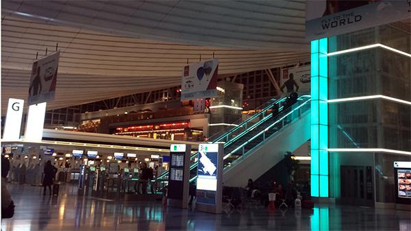 深夜でも羽田国際空港はにぎやか