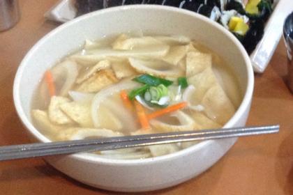 キンパ天国で韓国料理