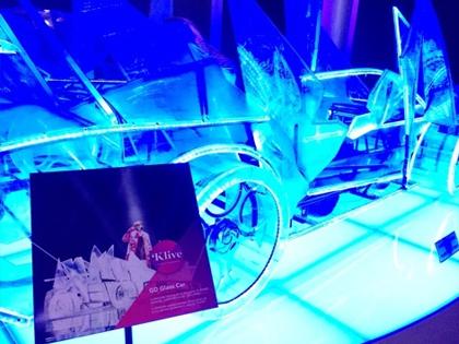 G-DRAGONがライブで使用した車の展示