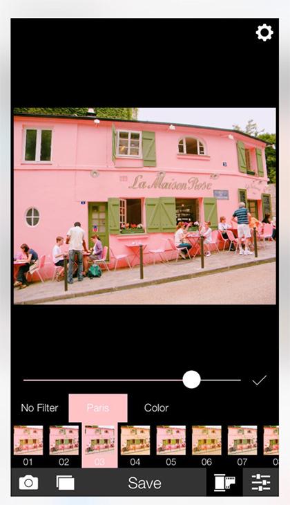 「Analog Paris」は基本的にピンクがかったフィルター