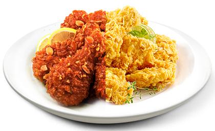 チキンには、フライドとヤンニョム