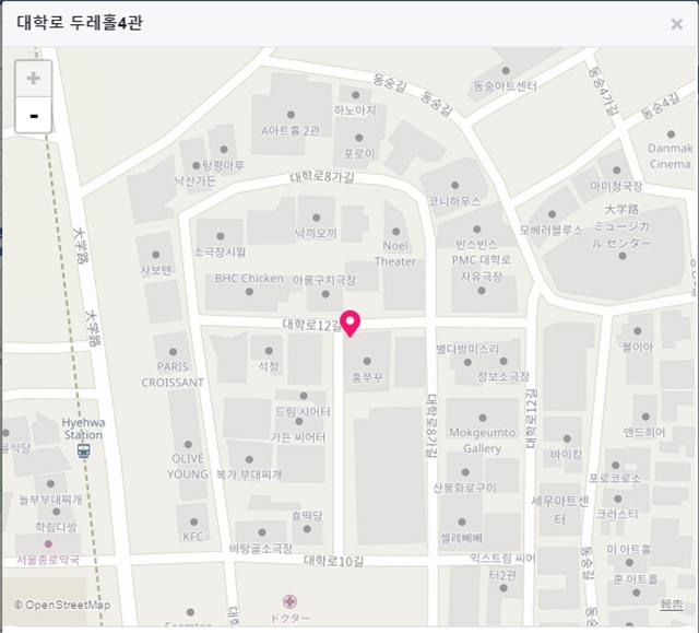 地下鉄4号線恵化(ヘファ)駅1番出口