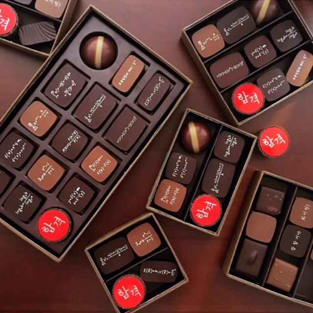 合格を祈願するようなデザインのチョコレート