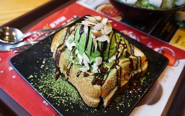 그린티 초코 인절미 토스트(グリーンティーチョコインジョルミトースト)