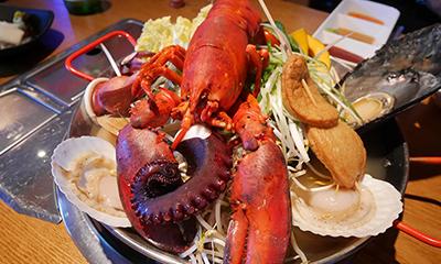 迫力満点の海鮮鍋