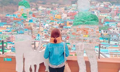 【韓国のマチュピチュ】アートの村「甘川文化村」