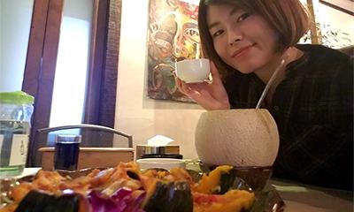 カボチャ海鮮蒸し&生フルーツ焼酎が楽しめる恵化駅・大学路の『반저/パンジョ』