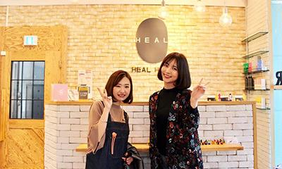 韓国ホンデにある、美容室「HEAL HAIR」