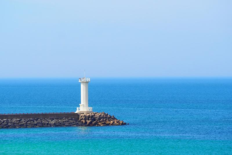 チェジュ島の海