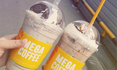 お得なビッグサイズで人気のカフェ「メガコーヒー」