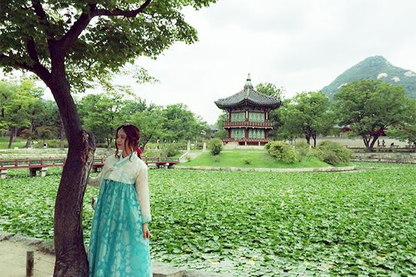 『韓服』を着て景福宮へ