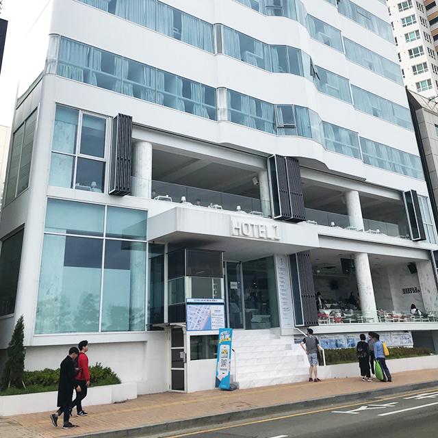 釜山広安里ビーチのホテル『hotel1』