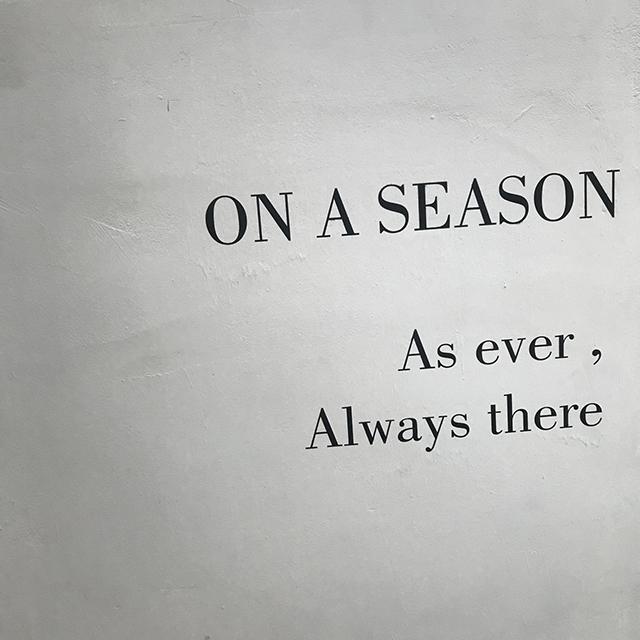 on a season