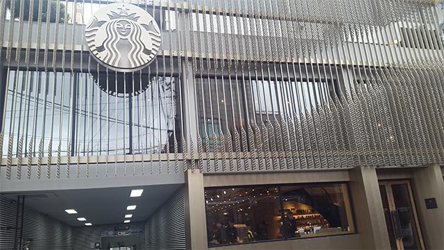 韓国国内1000店舗目のスターバックス清潭(チョンダム)スター店