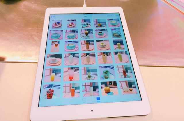 iPadを使った写真メニュー