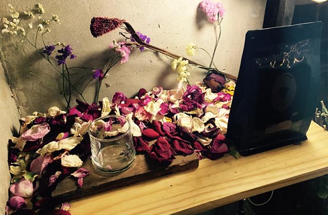 お花をアレンジしたインテリア