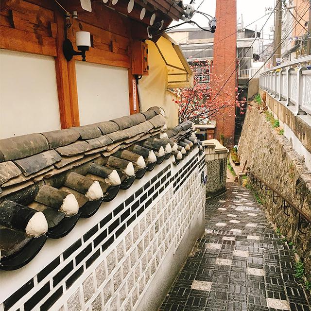 韓国の街並みを見学
