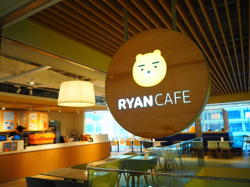 3階にある「ライアンカフェ」