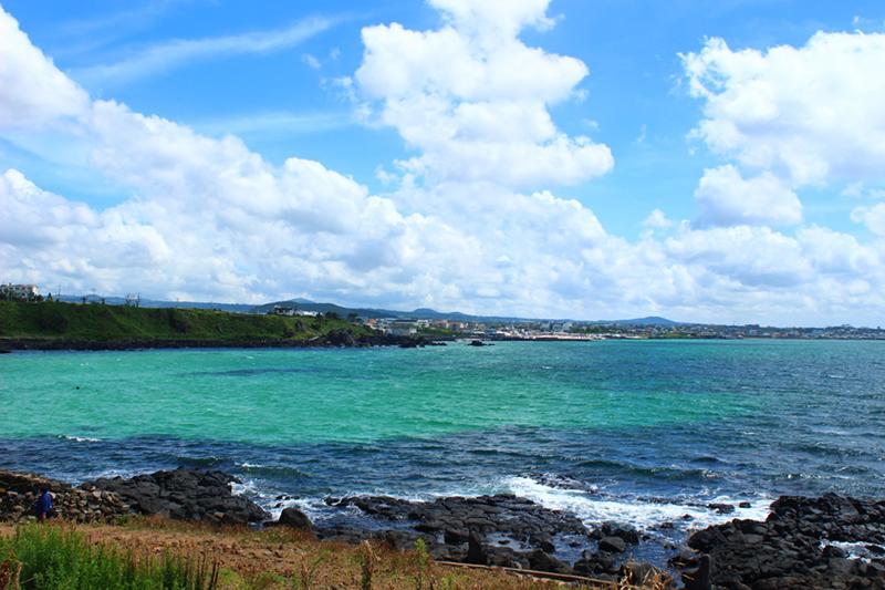 済州島の海は驚くほどに澄んでいます